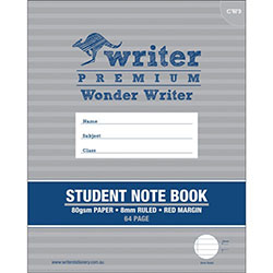 Student Note Book Size